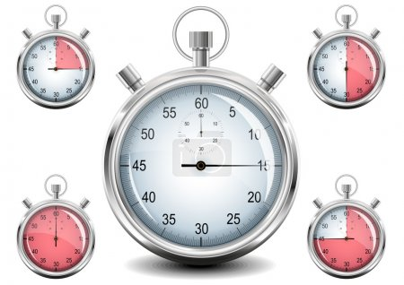 Vector Chrome Stopwatch.