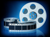 Twisted film for movie Vector Illustration