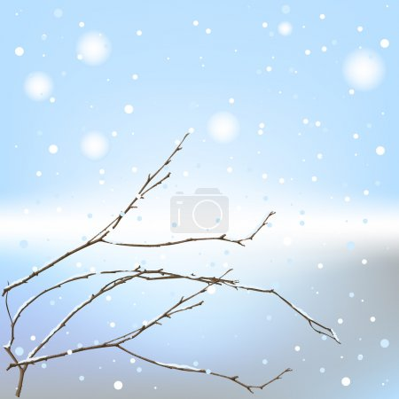 The winter background thread. Illustration in vect...