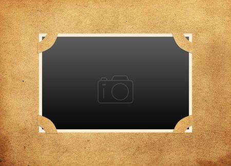 Framework on old photo album