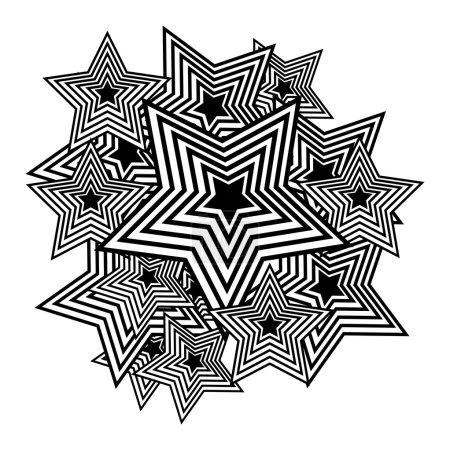 Vector stars. Pop-art background.