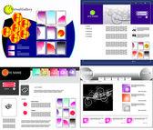 Vektorové webová šablona