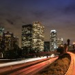 Downtown Los Angeles at Dusk, view from bridge 3th...