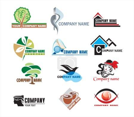 Illustration pour Vecteur de logos d'entreprise - image libre de droit