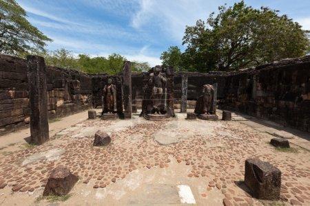 ruines antiques. Polonnaruwa, sri lanka