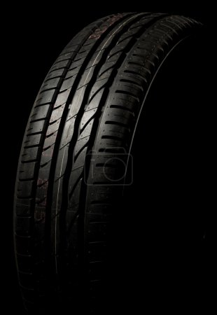 Photo for New car tire close up - Royalty Free Image