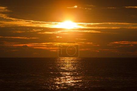 Ocean sunset. Mirissa, Sri Lanka