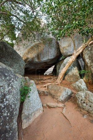 Mountain pathway in Mihintale, Sri Lanka