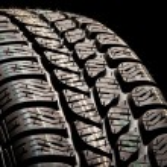 New car tire close up...