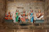 Hindu goddesses Parvati, Lashmi and Saraswati