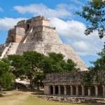 Anicent mayan pyramid (Pyramid of the Magician, Ad...