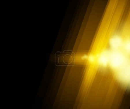 Halftone golden light background