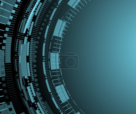 Blue technology background with circle patterns