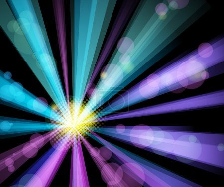 Illustration pour Affiche de nuit de fête. illustration vectorielle - image libre de droit