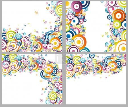 Rainbow circles backgrounds collection