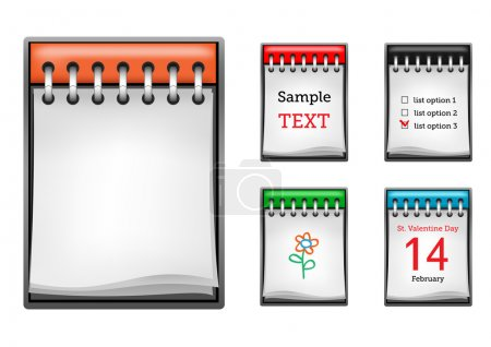 Illustration for Business notepad isolated on the white background - Royalty Free Image