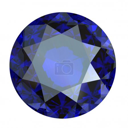 Round brilliant cut diamond perspective isolated
