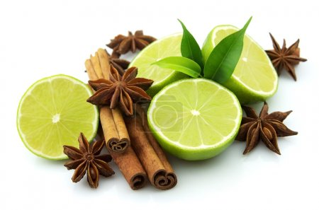 Lime with spices