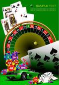 Casino elements Vector illustration;