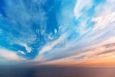 Photo for Sky background on sunset. Nature composition. - Royalty Free Image