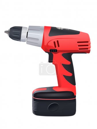 Illustration for Battery drill - Royalty Free Image