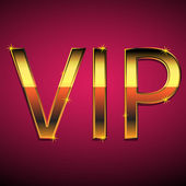 Vip text on a red background