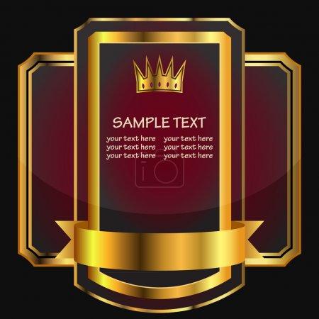 Black gold-framed labels