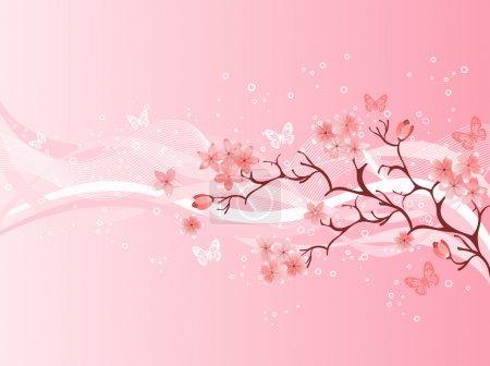 Illustration for Japanese cherry blossom - Royalty Free Image