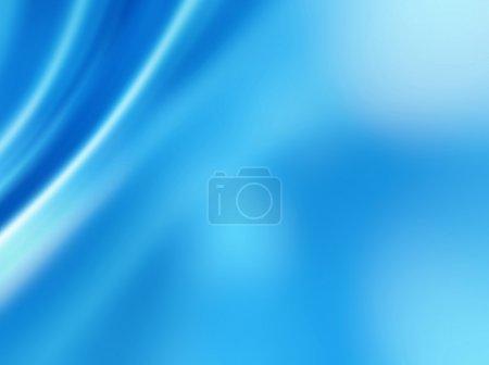 Photo pour Abstrait bleu de plis doux - image libre de droit