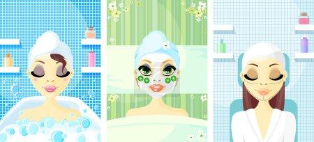 Illustration for Avatar Icon Women - Royalty Free Image