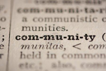 Photo pour Communauté de mots de l'ancien dictionnaire, un gros plan . - image libre de droit