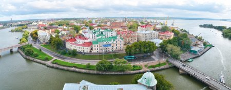 Panoramic view of a Vyborg, Russia