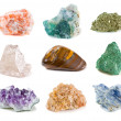 Mineral collection isolated on a white background...