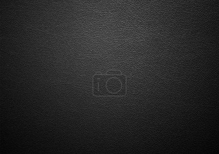 Photo pour Vrai gros plan de la texture de cuir noir - image libre de droit