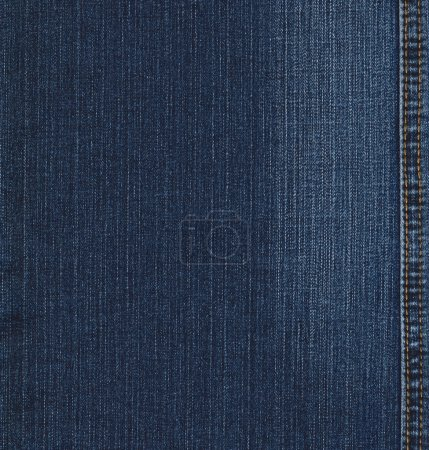 Photo pour Texture de Real blue jeans denim, fond avec stitch - image libre de droit