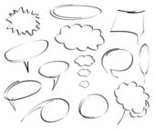 Hand-drawn dialog bubbles vector
