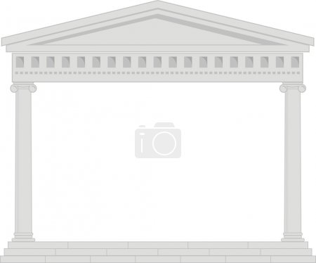 Vector illustration of architectural element - Portico (Colonnade)
