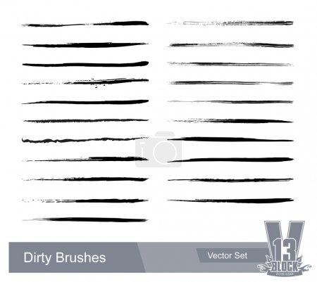 Set of dirty grunge brushes