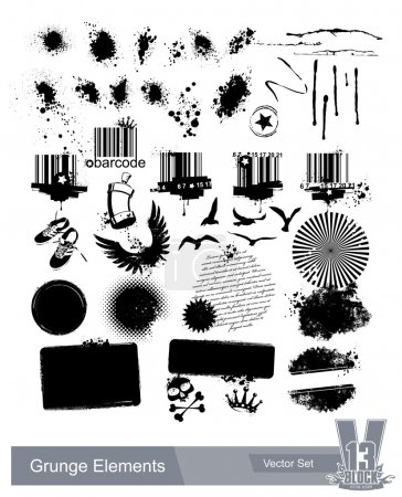 Photo pour Ensemble d'éléments de grunge sales. Illustration du vecteur EPS 10 . - image libre de droit