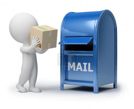 3d small - mailing a package