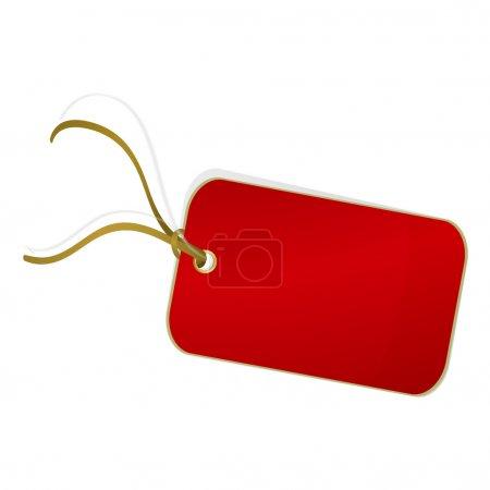 Illustration pour Marque rouge sur fond blanc. Illustration vectorielle - image libre de droit