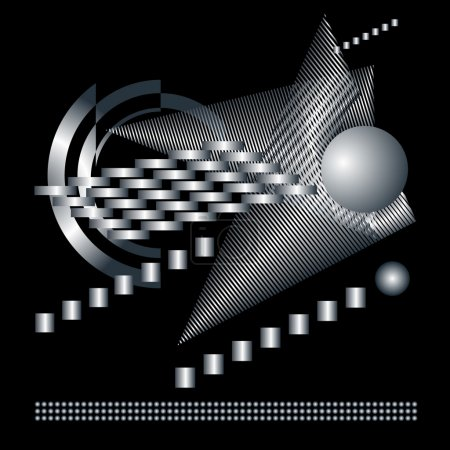 Abstract graphical technical black background