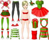 Girl with Christmas dresses