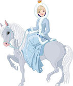 Princess riding horse Winter
