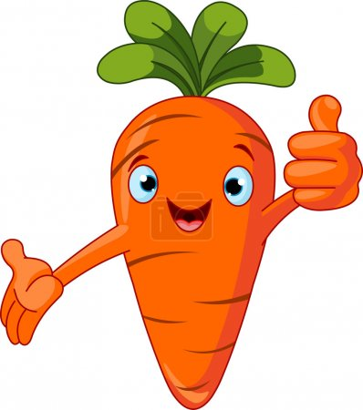 Illustration for Illustration of a Carrot Character giving thumbs up - Royalty Free Image