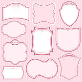 Set of pink vector frames