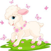 Easter lamb and butterflies