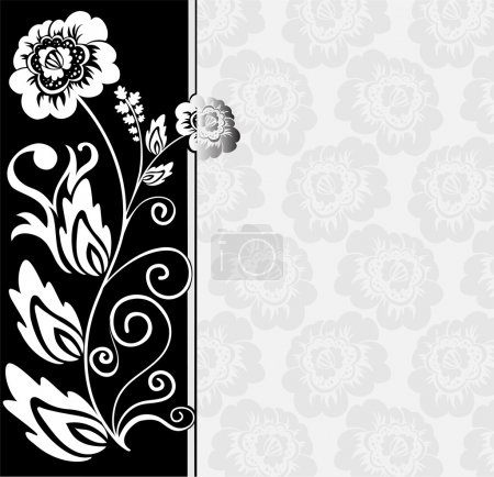 Asymmetrical black and white background
