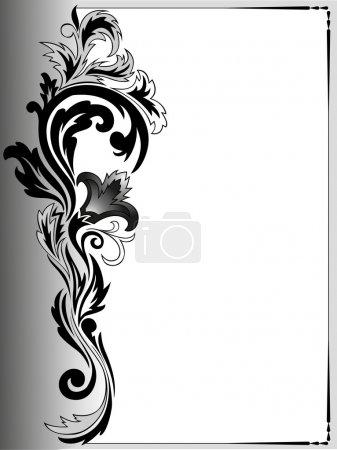 Illustration pour Cadre vertical gris avec une belle composition végétale - image libre de droit