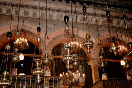 Fragment of interior of Holy Sepulchre Church